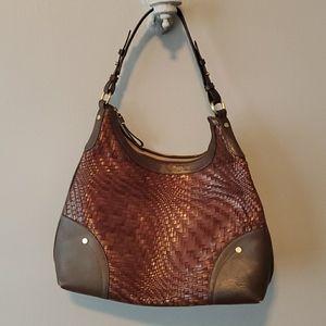 Cole Haan brown leather hobo bag
